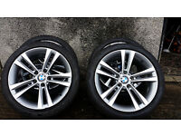 "18"" genuine BMW F30 3 series grey alloy wheels 8Jx18 5x120 Insiginia Trafic Vivaro"