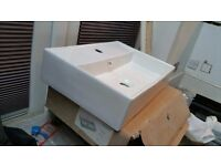 Wall mounted/ unit top basin - 500 wide