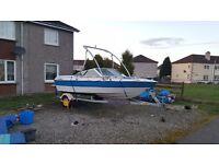 6 person Bowrider ski boat with trailer