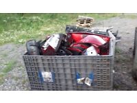 Large collection of headlights rear lights various makes and models. Make offer