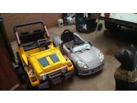 Battery operated car and jeep (spares/repairs)