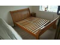 Sleigh bed king size frame