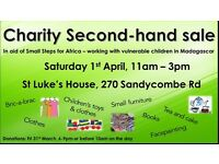 Quality second-hand sale, in aid of Small Steps for Africa