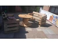 Pallet furniture garden furniture