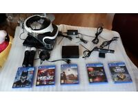 PSVR Headset, Camera, Move Controllers & Games