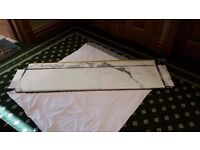 Marble Bathroom Surface - White with grey splashes. Great condition