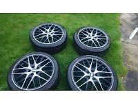 BBS cs-5 17 inch original alloy wheel set