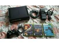 Xbox 360 120gb elite console + games