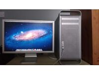 Mac pro 2.1, 2 x 3ghz quad core (8 core), 4gb, Ati HD5870 1gb, 250gb hdd, 23 inch HD, Logic pro 9