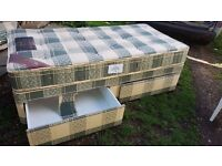 Single divan bed with 2 drawers (perfect condition)