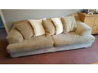 4 seater and 3 seater sofa.