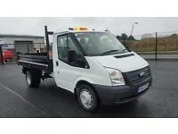 2013 LATE FORD TRANSIT 350 DROPSIDE TIPPER *ONLY 18500 MILES*