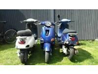 Piaggio Vespa et2 50cc project joblot