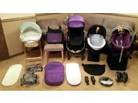 iCandy Apple 2 Pear Pushchair Pram Stroller Cybex Car Seat Rain Cover Cosi Toes + Lots More Bargain
