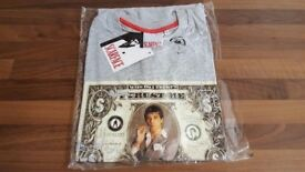 NEW Men's Grey Scarface Tony Montana Cash T-Shirt / Tee / T-Shirts / Leeds
