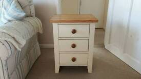 Cream Pine Bedside Table