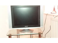 LCD Samsung TV with Panasonic DVD player for sale - great condition