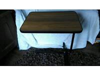 Invalid bed or chair table