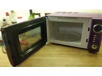 wilkos midnight purple microwave, 1 year old