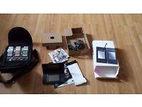 Nintendo DS Lite black VGC With 6 Games, Console,bag case, manual