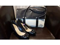 """Elle MacPherson """"The Body"""" Handbag and Autograph by M&S Wedges Size 6 BNWT Wide Fit For Sale"""