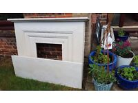 Natural Limestone Fireplace Surround