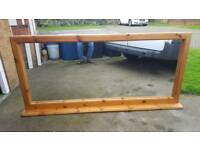 """Solid wooden wall mountable mirror 6ft length 33"""" height"""