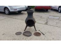 Small Chiminea, fire pit, outdoor / garden