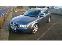 Audi a 4 t190 estate 2003 registration, 1800 cc turbo petrol, 120,000 miles, new mot