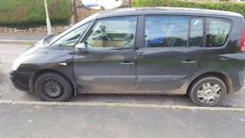 Renault Espace Quick sell as want smaller car