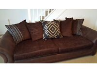 4 seater sofa and matching armchair