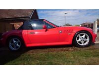 BMW Z3 1.9 Bright Hellrot Red adjustable coilover suspension 1 year MOT History WOKING, SURREY