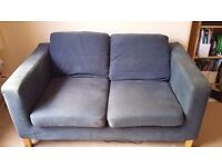 FREE BLUE TWO SEATER SOFA