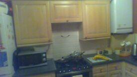Light wood kitchen units