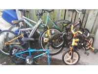 lot of bikes £20.00 for parts or repairs