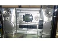 Stereo System with remote and Glass Stand