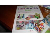 Hobbycraft Felt Doll Sewing Kit, Stitched Toys Book, My First Sewing Book (all new)