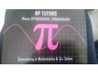 RP Tutors. Specialists in 11+ & Mathematics tuition