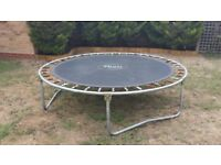 ** £10 ** Plum Trampoline 2.4m Diameter - With All Safety Poles/Nets/Skirts