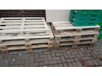 eight wood pallets