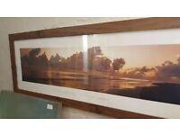 Panorama Wood-framed Print: Chris Simpson – Distant Shore