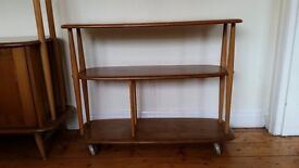 Vintage Ercol 1960s shelves/trolley solid wood