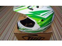 thh kids helmet motocross motox quad medium green size 49-50cm rac acu gold approved