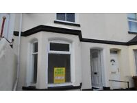 Two/three bed house in the Stoke area of Plymouth.