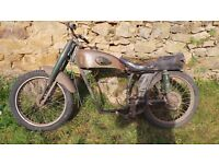 Classic French 125cc Motobecane / Motoconfort Mobystand Z57C Frame - Barn Find Project MEGA RARE !!!