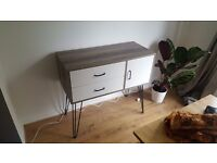 Hygena Ivy 2 Drawer Small Sideboard on Wire Legs