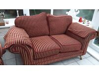 For sale 2 seater sofa and chair £50 ono