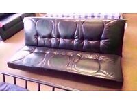GREAT CONDITION! houston 3 seater leather clic clac sofa bed