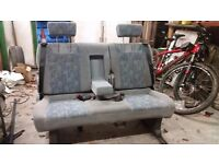Folding Triple 3 Seat Camper Van Bench Table Bed Belts VW T4 T5 Caddy Transit Vivarro Sprinter