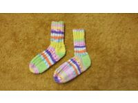 Home hand made Baby girl socks feet 15 cm colorful